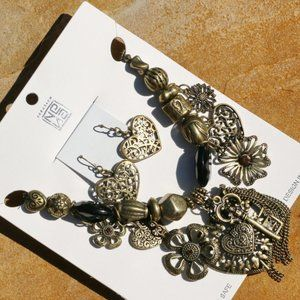 Independent Jewelry - Boho Necklace Chunky Heart Flower Statement Set